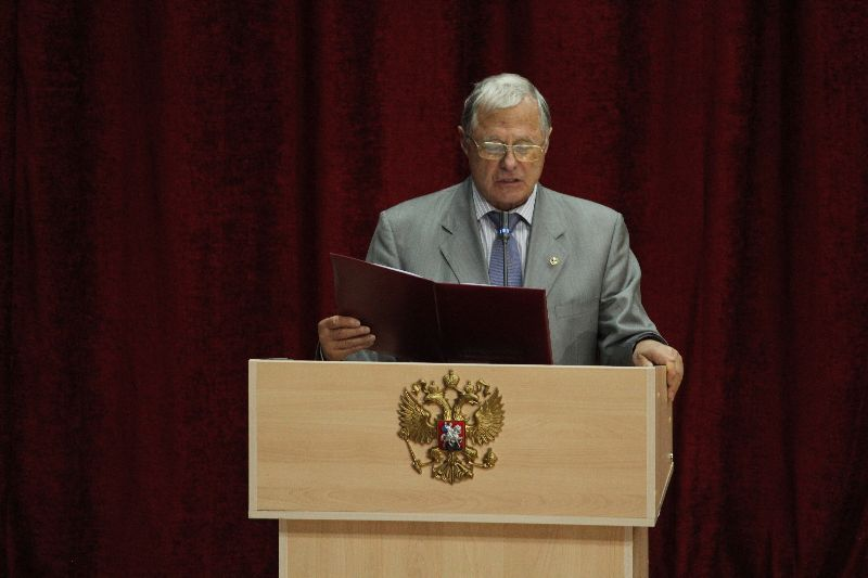 President of the I.P.Pavlov Physiology Society Professor Mikhail A. Ostrovsky, Member of the Russian Academy of Sciences
